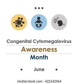 vector illustration / june is congenital cytomegalovirus awareness month