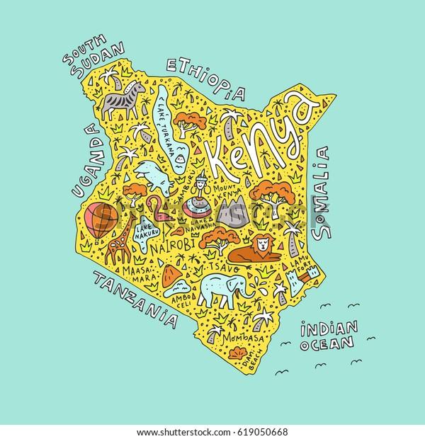 Vector Illustration Kenya Country Map Symbols Stock Vector (Royalty on kenya map detailed, kenya's map, kenya physical features, texas natural resources map, kenya road map, lesotho capital map, kenya county map, kenya flag, african kenya map, kenya vegetation map, kenya town map, kenya country people, kenya egypt map, kenya thematic map, kenya mountains map, kenya culture, kenya ethnic map, kenya africa, kenya industry map, kenya on map,