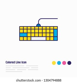 Vector illustration of keypad icon colored line. Beautiful notebook element also can be used as qwerty icon element.