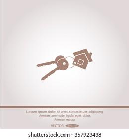 Vector illustration of keys