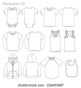 Vector Illustration of Kid's garments.