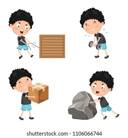 Vector Illustration Of Kids Physical Activities
