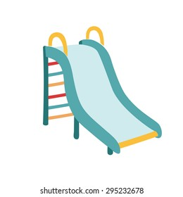 Vector illustration of kids slide