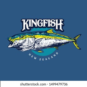 the vector illustration of the king fish