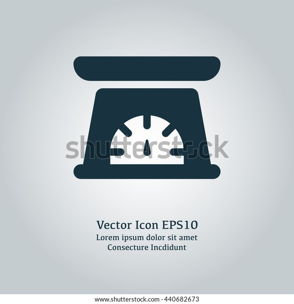 Vector illustration of kitchen scale icon