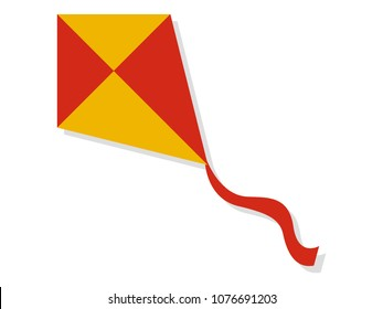 Vector illustration of a Kite