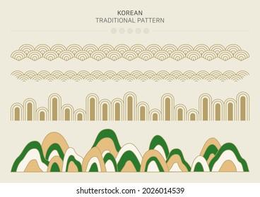 Vector illustration of Korean traditional pattern. - Shutterstock ID 2026014539