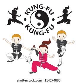 Vector illustration of  kung fu