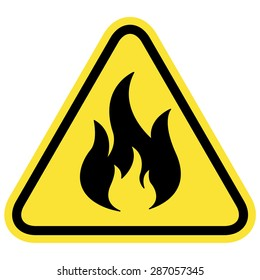 Vector illustration label flammable