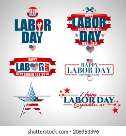 vector illustration Labor Day a national holiday of the United States love of the homeland and traditions of its people