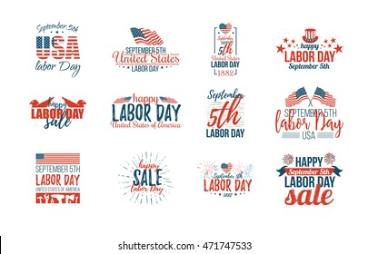 vector illustration Labor Day a national holiday of the United States love of the homeland and traditions of its people. great offer in sale celebration of Labour Day. September 5, 2016