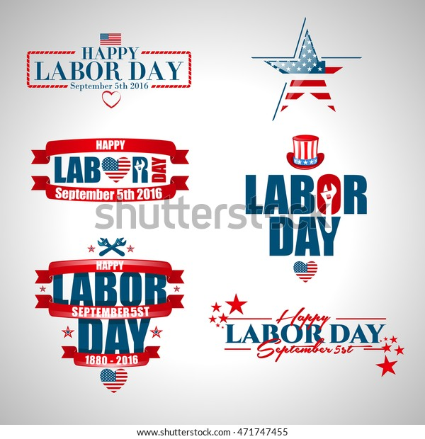 Vector Illustration Labor Day National Holiday Stock Vector Royalty