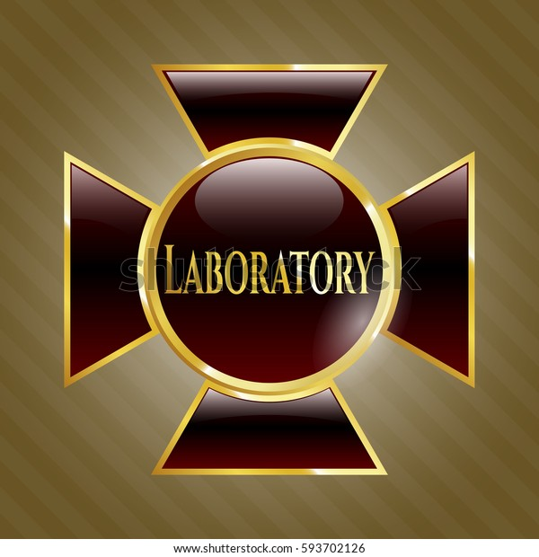Vector illustration of Laboratory golden with Brown icon