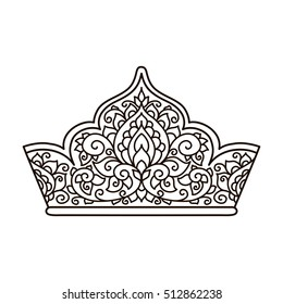 Crown Coloring Page - GetColoringPages.com | 280x260