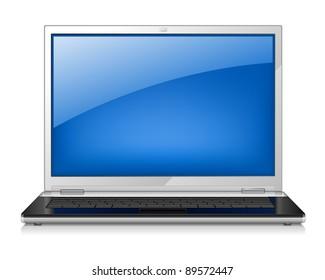 Vector illustration of laptop on white background