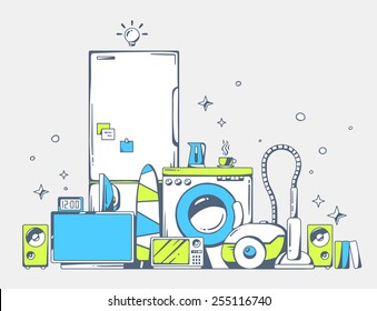 Home Appliance Poster Images Stock Photos Vectors Shutterstock