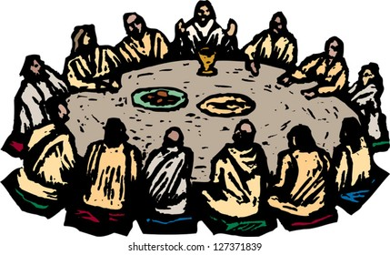 Vector illustration of the last supper