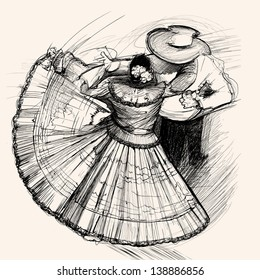 Vector illustration of a latino dance