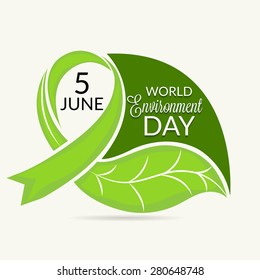 Vector illustration of a leaf for World Environment Day.