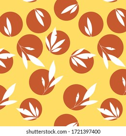 Vector illustration leaves pattern. Leaf pattern.
