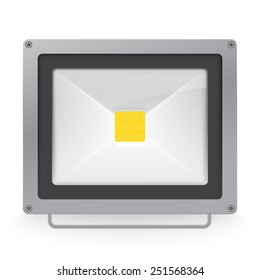 Vector illustration of LED spotlight or floodlight