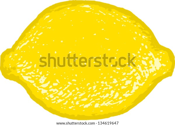 Vector illustration of a lemon or lime