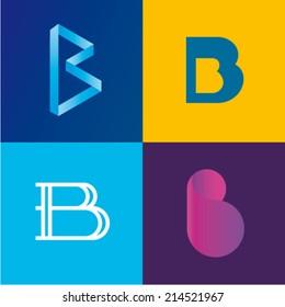Vector illustration letter b set