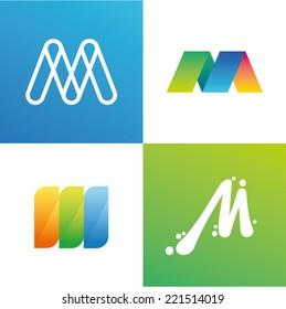Vector illustration letter m set