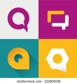 Vector illustration letter q set