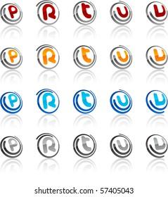 Vector illustration of letter symbols.