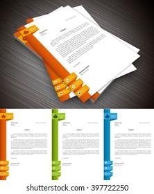Vector illustration of letterhead.