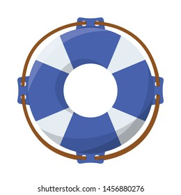 Vector illustration of lifebuoy and ring symbol. Lifebuoy and aid stock symbol for web.