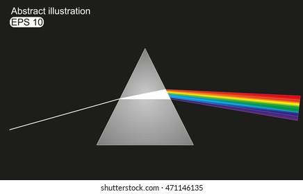 Vector illustration of light dispersion
