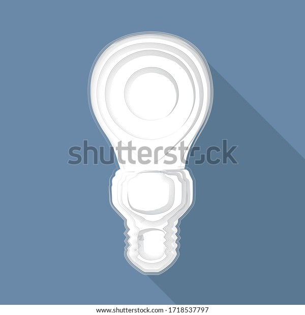 illustration vectorielle, ampoule sur fond bleu
