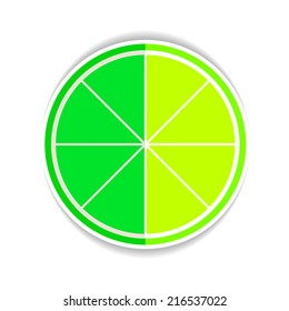 Vector Illustration of Lime Fruit yellow ripe Flat Icon