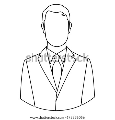vector illustration line businessman icon male stock vector royalty