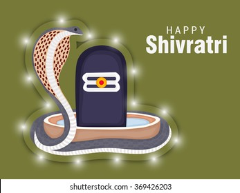 Vector Illustration of Lingam, Hindu deity Shiva used for worship in temples, for Shivratri a Hindu festival of the God Shiva.