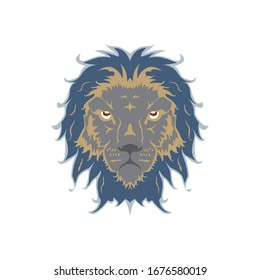 Vector illustration lion head, can be used for topics esport, team, mascot, emblem