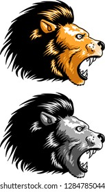 Vector illustration of a Lion head vector for logo or t-shirt use.