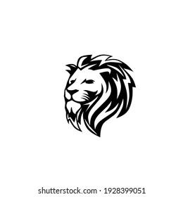 Vector illustration of lion head tattoo