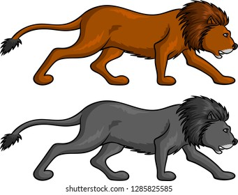 Vector illustration of a Lion vector for logo or t-shirt use.