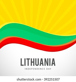 Vector illustration of Lithuania Happy independence day.