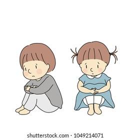 Hugging Knees Images, Stock Photos & Vectors | Shutterstock