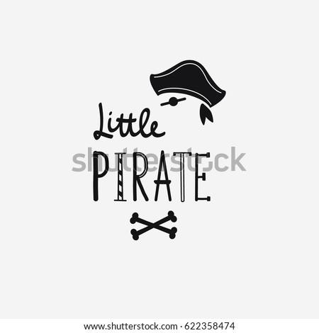 Vector illustration Little pirate