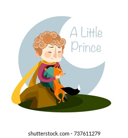 Vector illustration. A Little Prince.