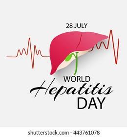 Vector illustration of a Liver for World Hepatitis Day.