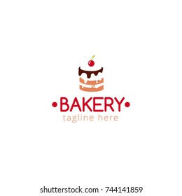 Vector illustration Logo Bakery for Cafe, cake bar, restaurant, food