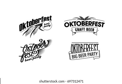 Vector illustration logo collection for Oktoberfest party.