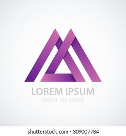 Vector illustration of logo letter m.