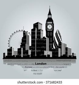 Vector illustration. London city silhouette.